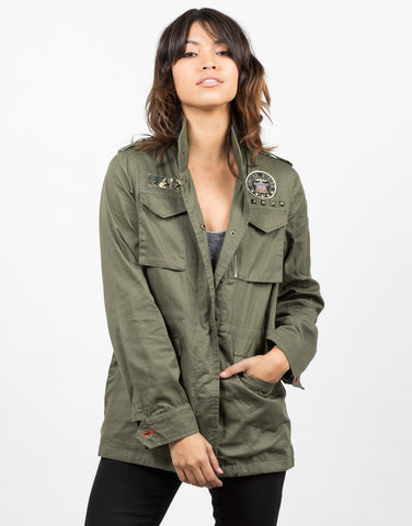 Front View of Army Shirt Jacket