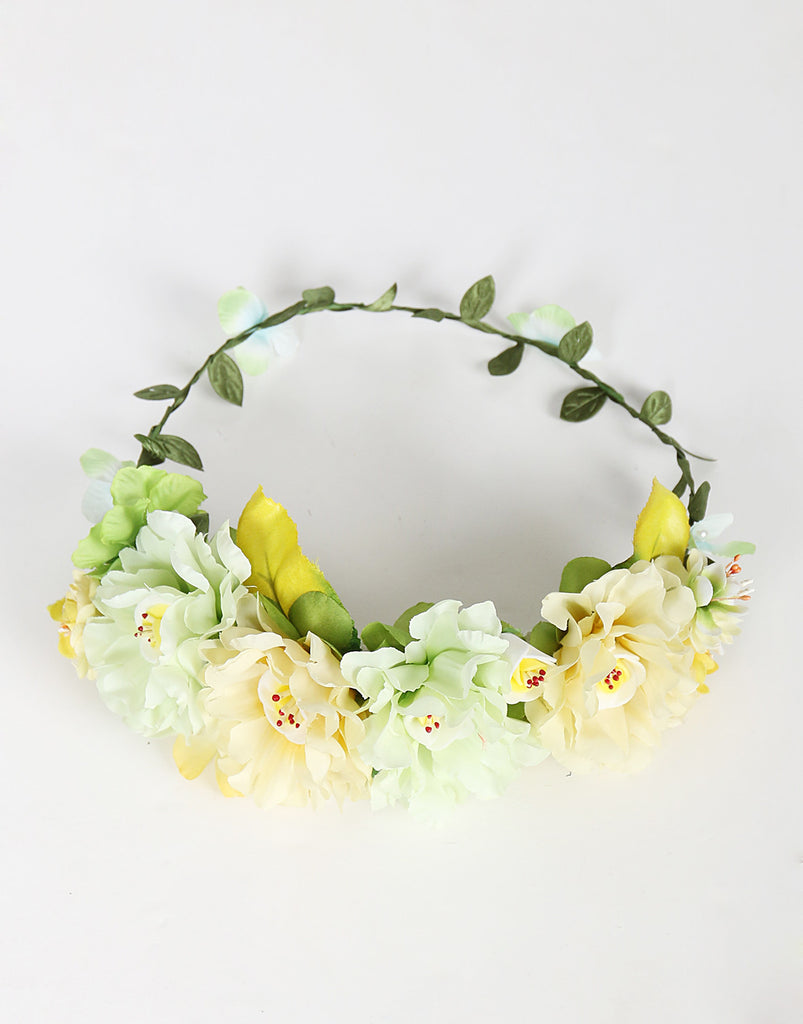 Assorted Jumbo Flower Crown - Mint