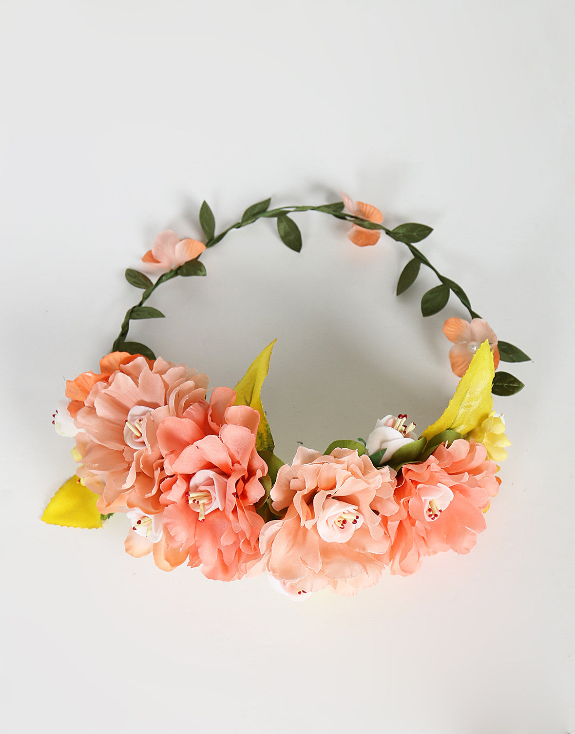 Assorted Jumbo Flower Crown - Peach