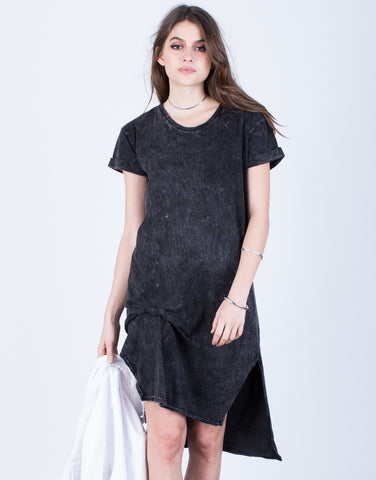 Front View of Asymmetrical Tee Dress