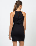 Back View of Asymmetrical Bodycon Dress
