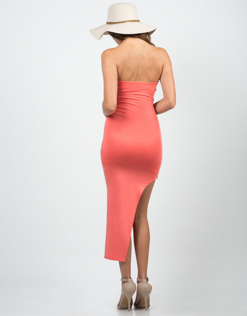 Back View of Asymmetrical Dress