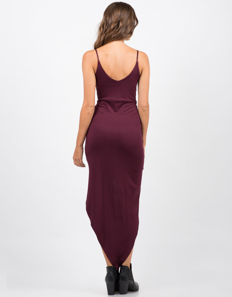 Back View of Asymmetrical Knot It Dress