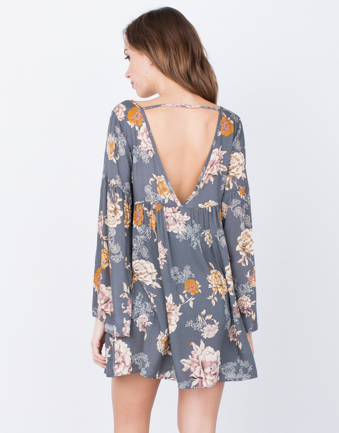 Back View of Autumn Florals Dress