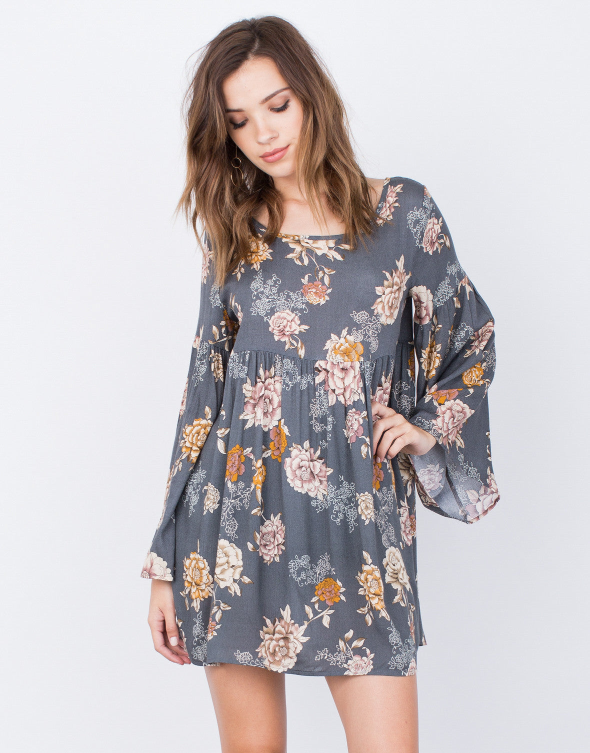 Front View of Autumn Florals Dress