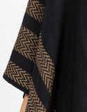 Detail of Aztec Poncho Sweater Top