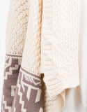 Detail of Aztec Print Knitted Holiday Cardigan