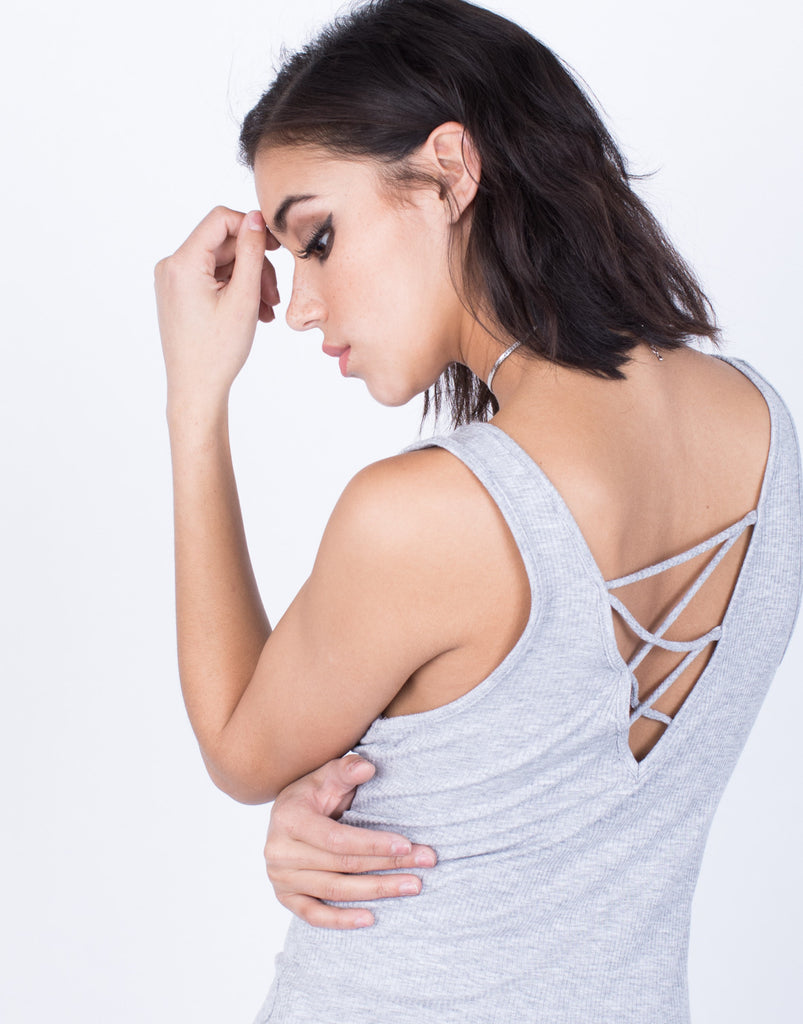 Detail of Back Criss Cross Tank