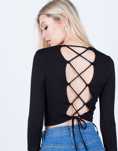 Detail of Back Lace-Up Top