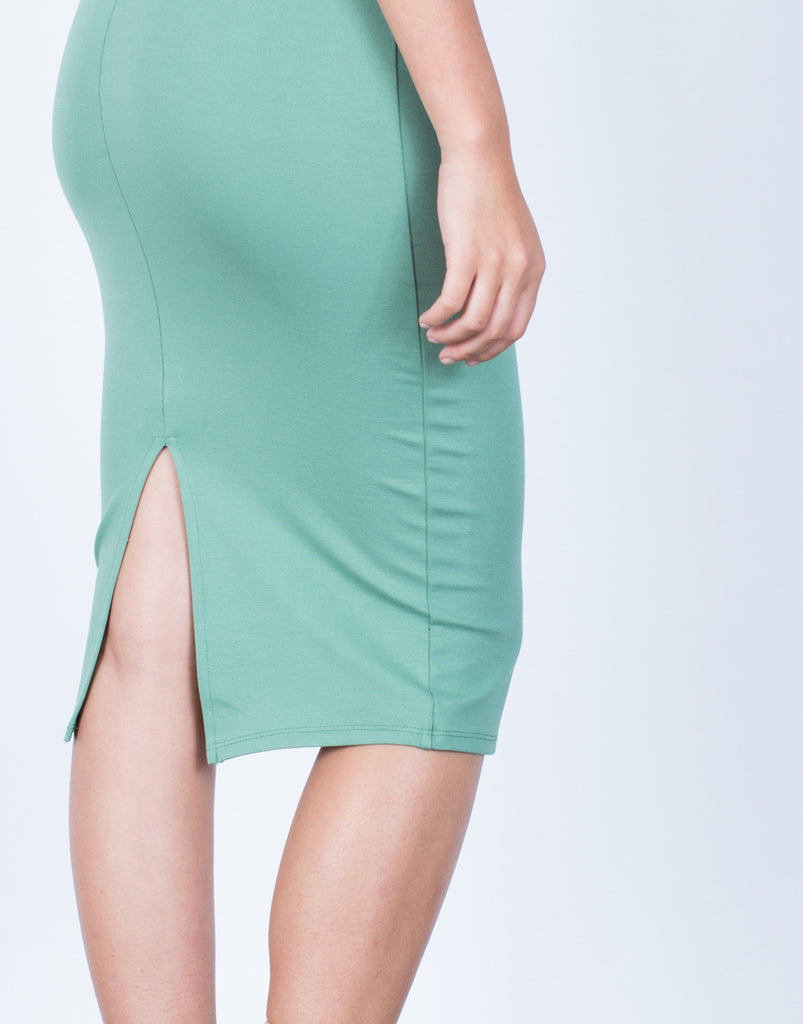 Detail of Back Slit Bodycon Dress