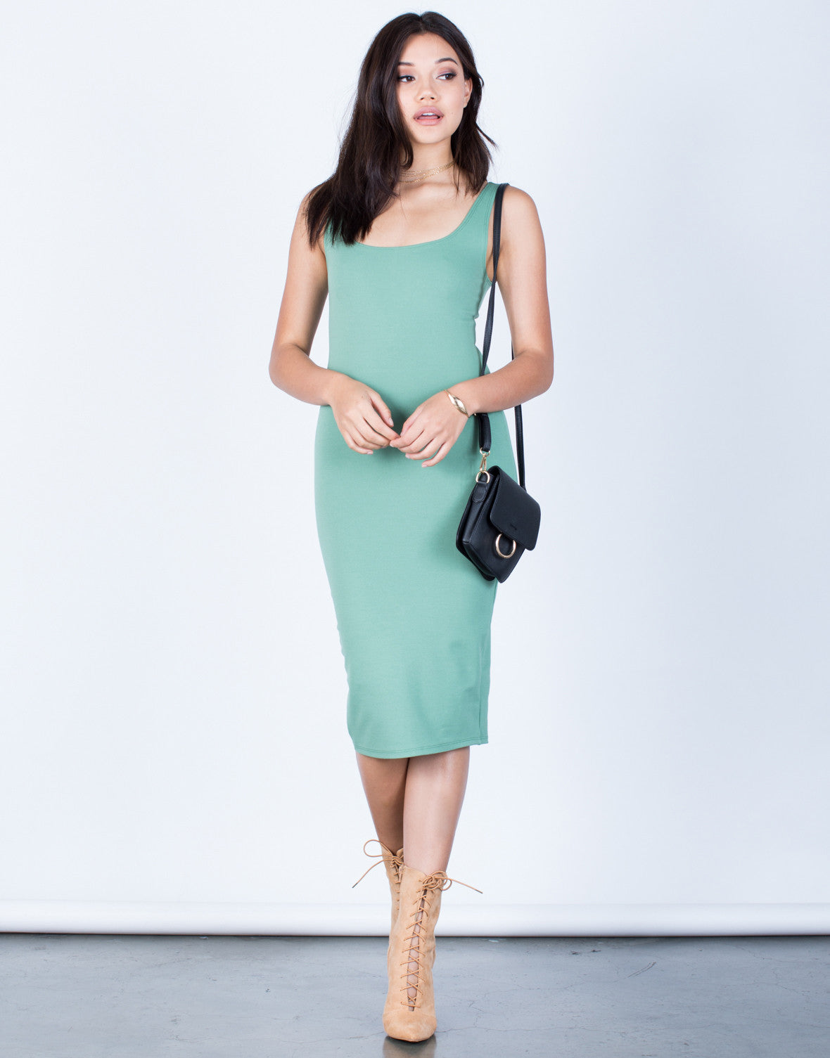 Back Slit Bodycon Dress - Casual Bodycon Dress - Bodycon Tank Dress ...