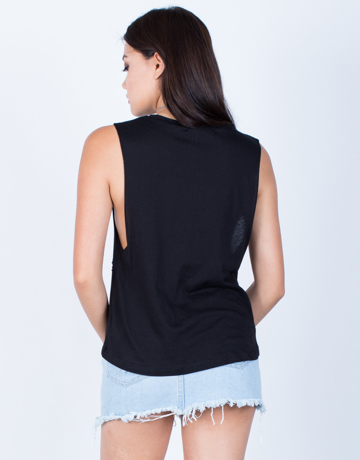 Back View of Bad Girls Graphic Tank