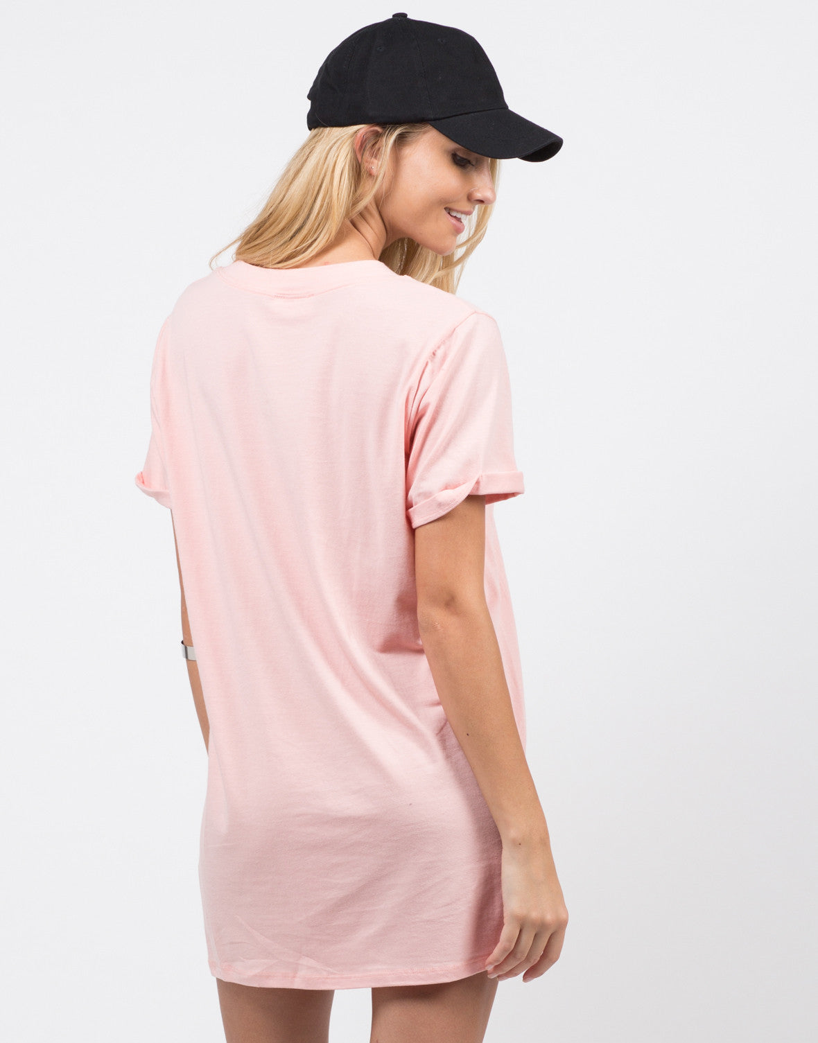Back View of Bae-sic T-Shirt Dress