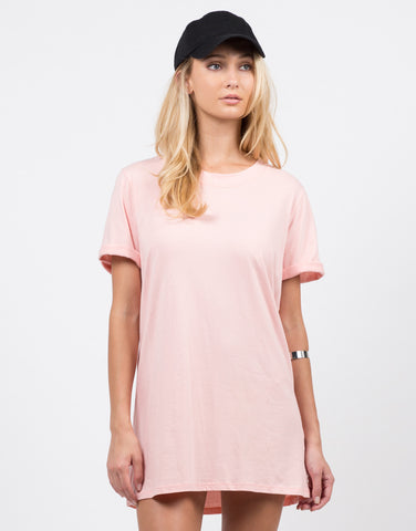 Front View of Bae-sic T-Shirt Dress