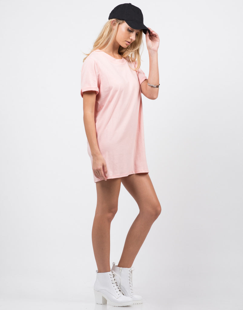 Side View of Bae-sic T-Shirt Dress