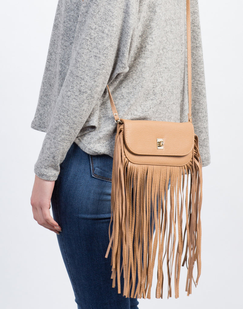 Fringed Wallet Crossbody Bag - 2020AVE