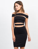 Front View of Banded Bodycon Dress
