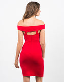 Back View of Banded Bodycon Dress