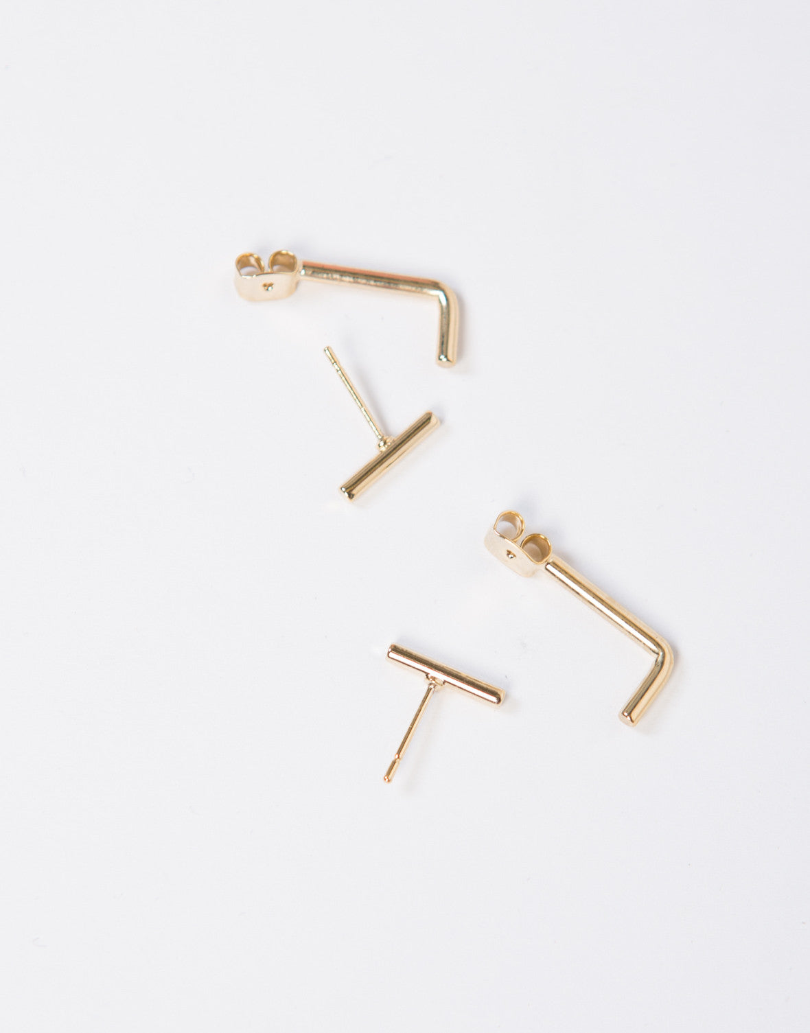 Bar Back Stud Earrings