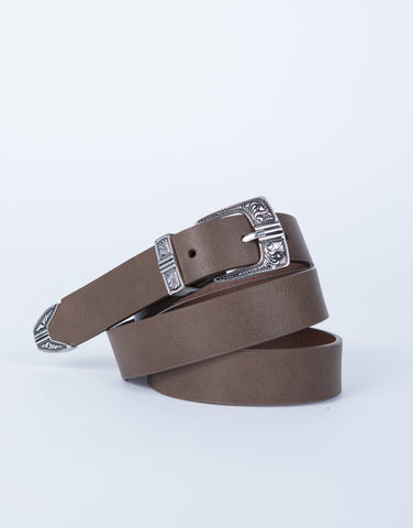 Baroque Leather Belt
