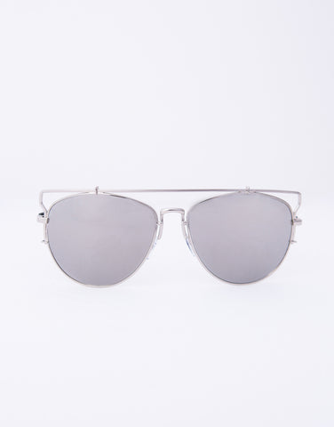 Barred In Aviator Sunglasses