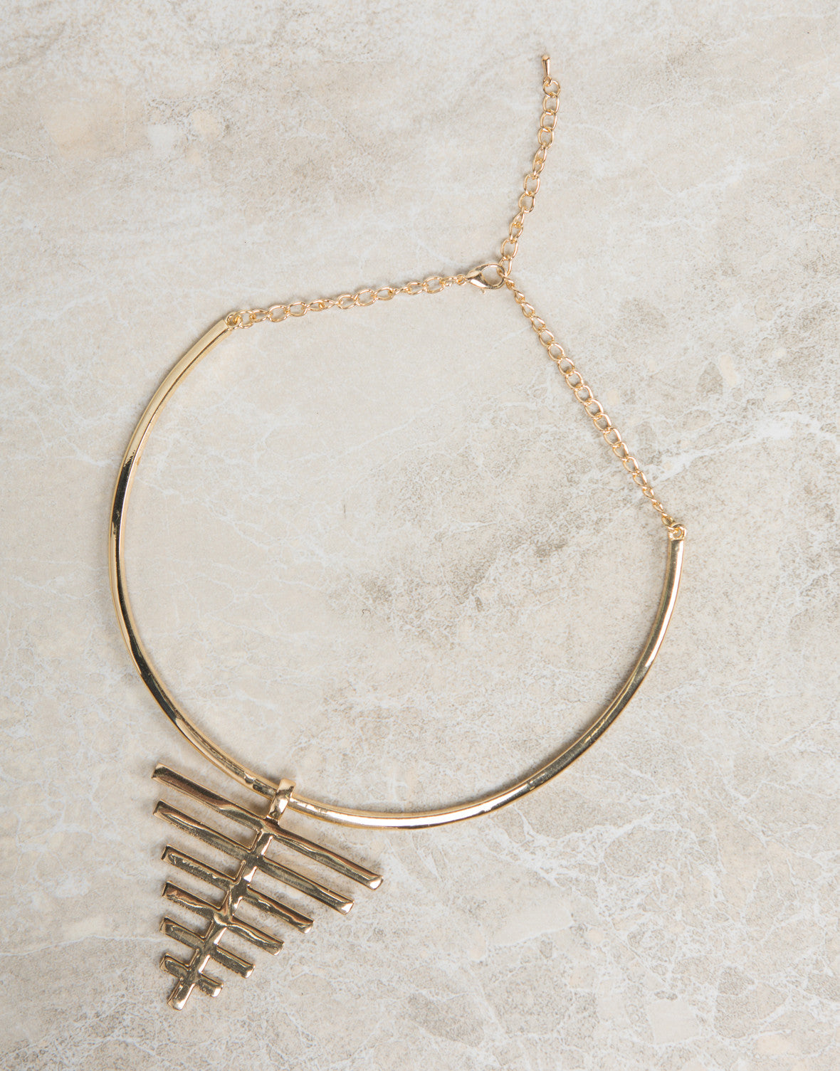 Bars On Point Collar Necklace