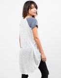 Back View of Baseballin' Tunic Tee