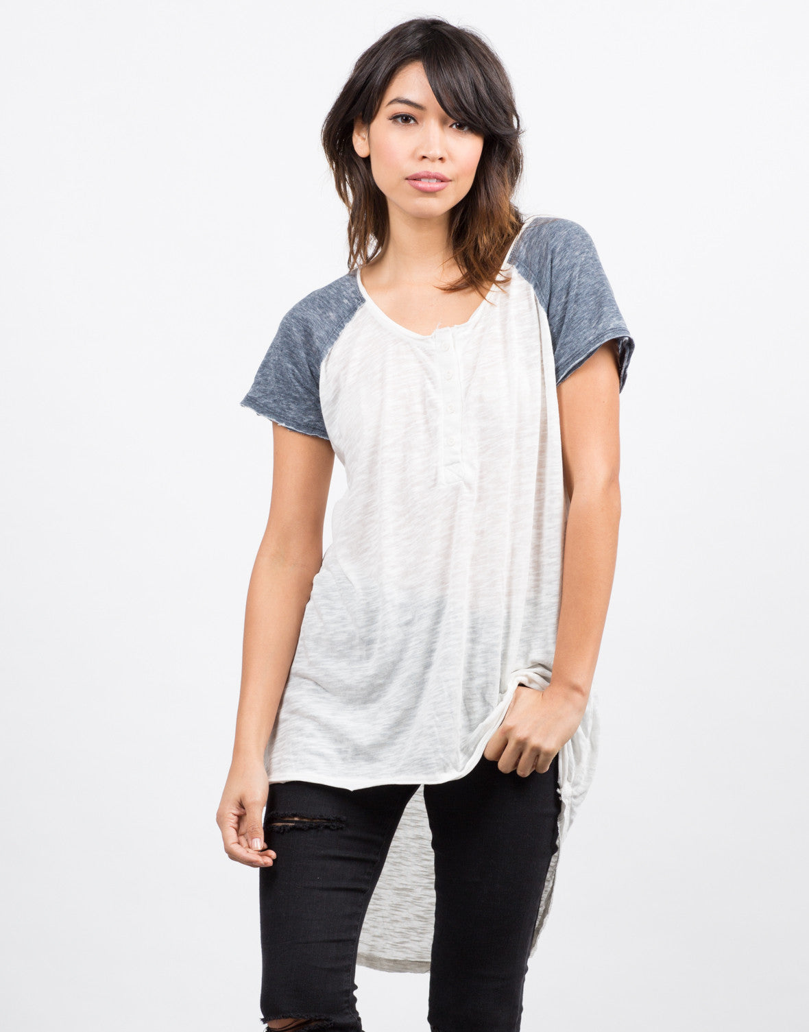 Front View of Baseballin' Tunic Tee