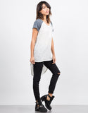Side View of Baseballin' Tunic Tee