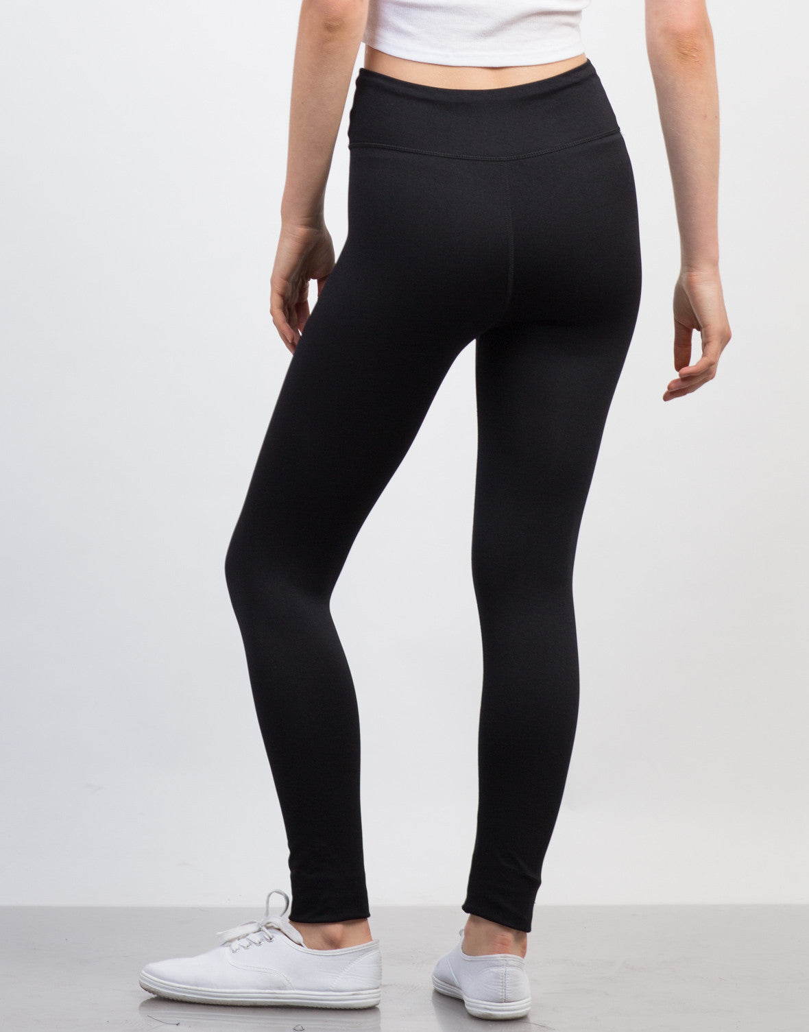 Back View of Basic Active Leggings