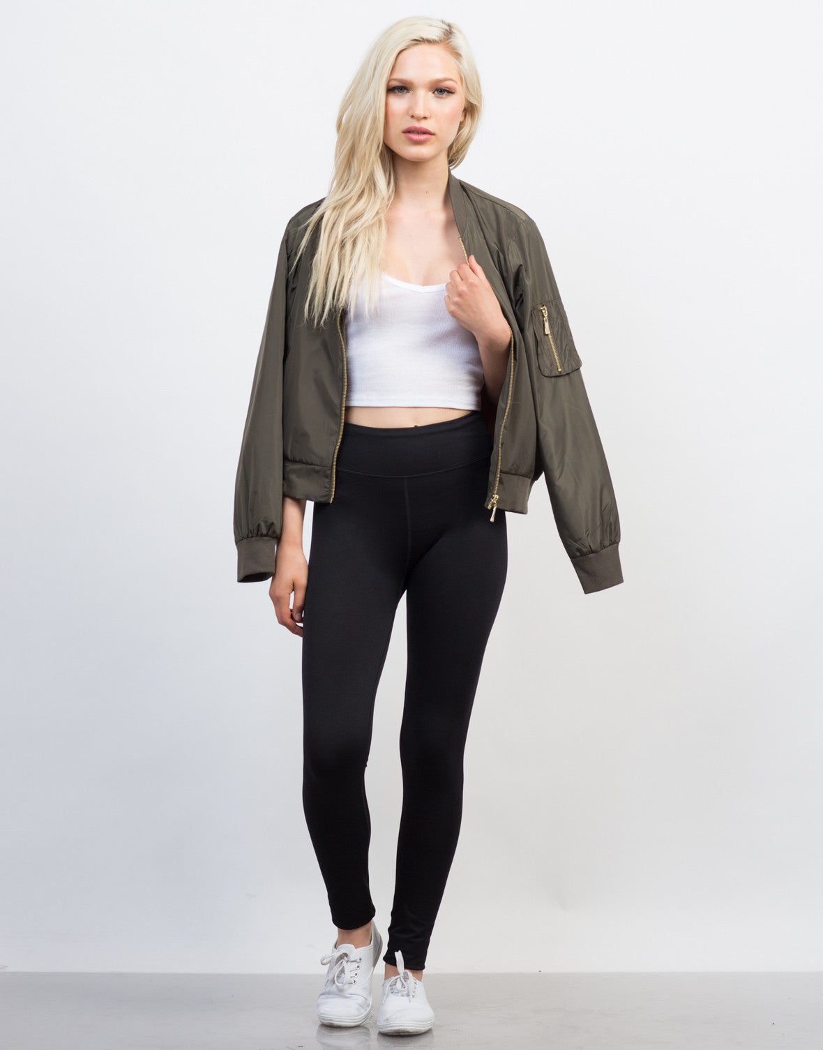 Front View of Basic Active Leggings