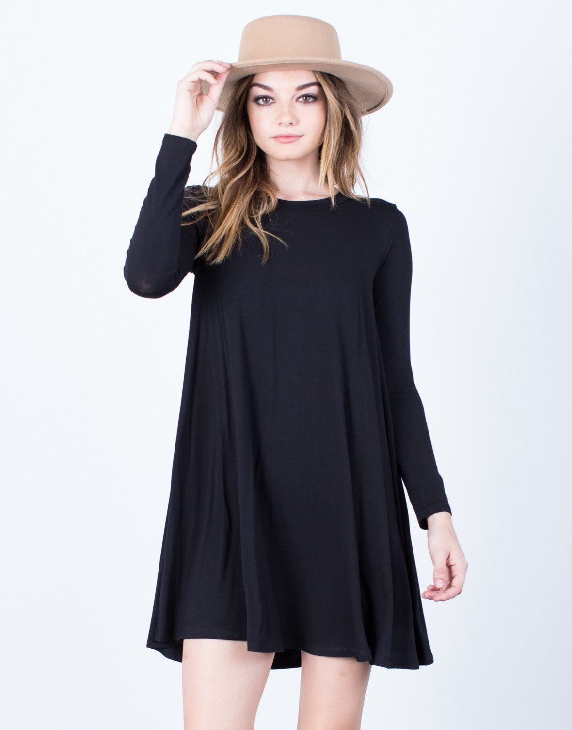 Side View of Basic Shift Dress