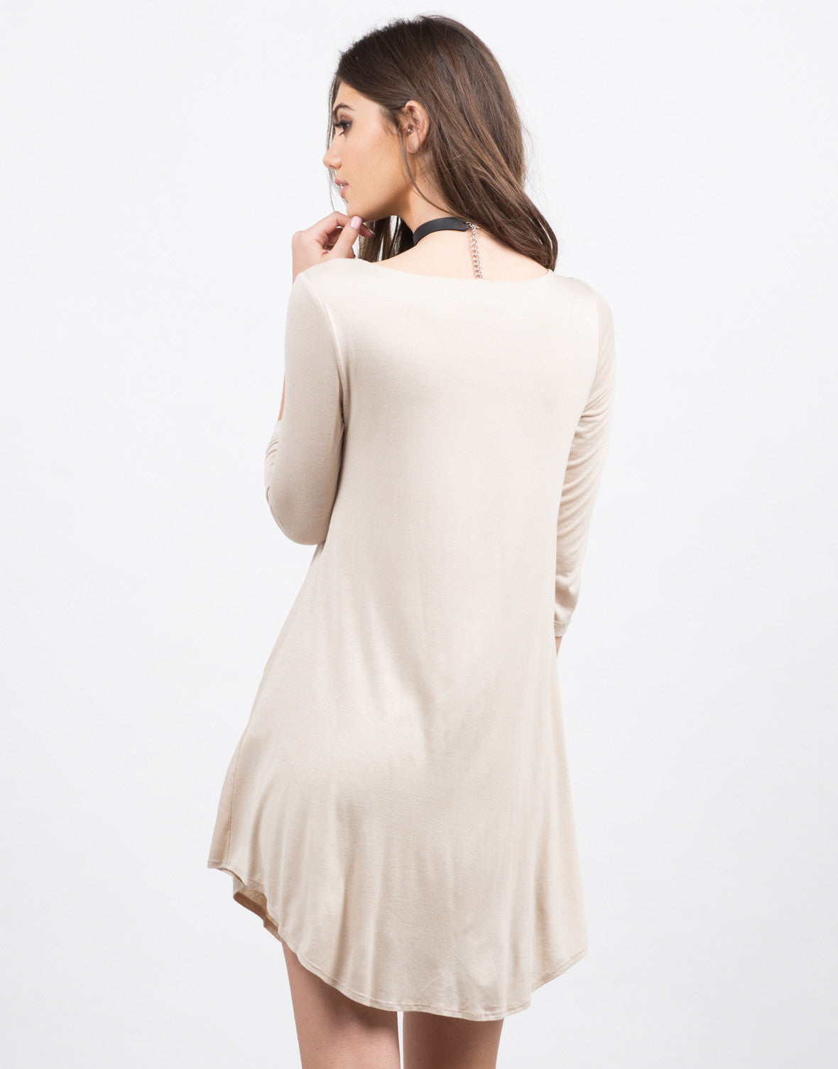 Back View of Basic 3/4 Dress