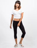 Front View of Basic Crop Leggings