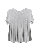Basic Flowy Tee - Gray