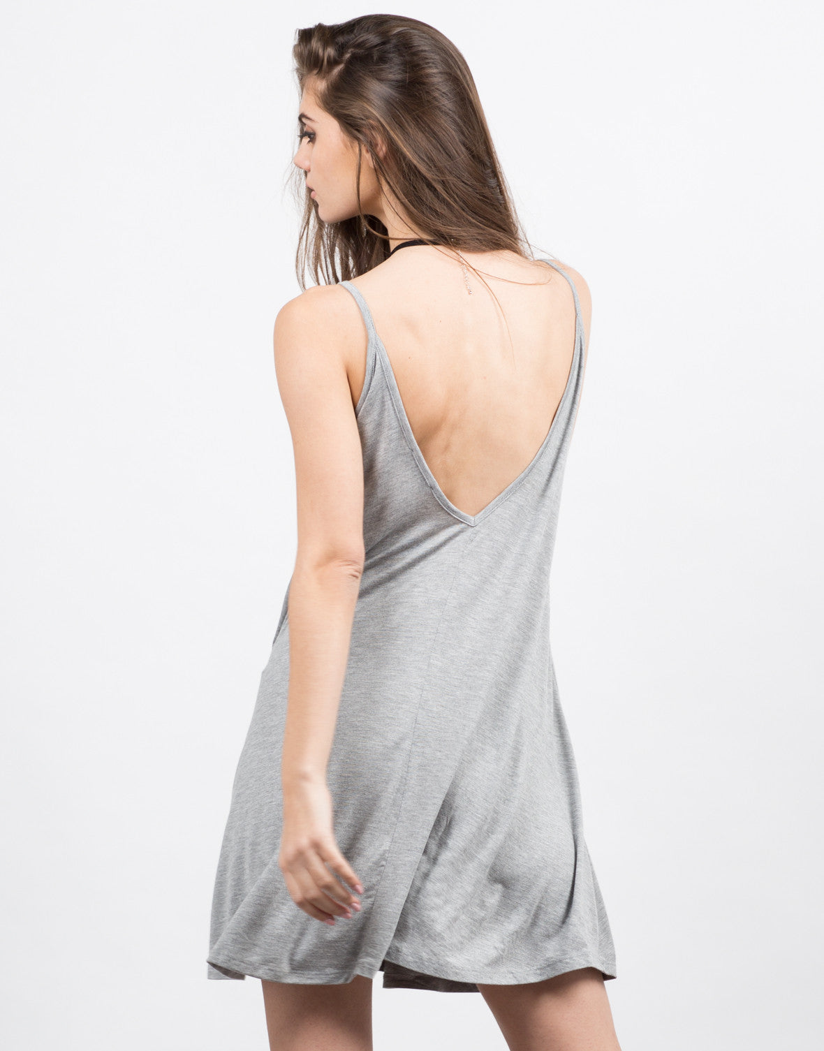 Back View of Basic Jersey Dress