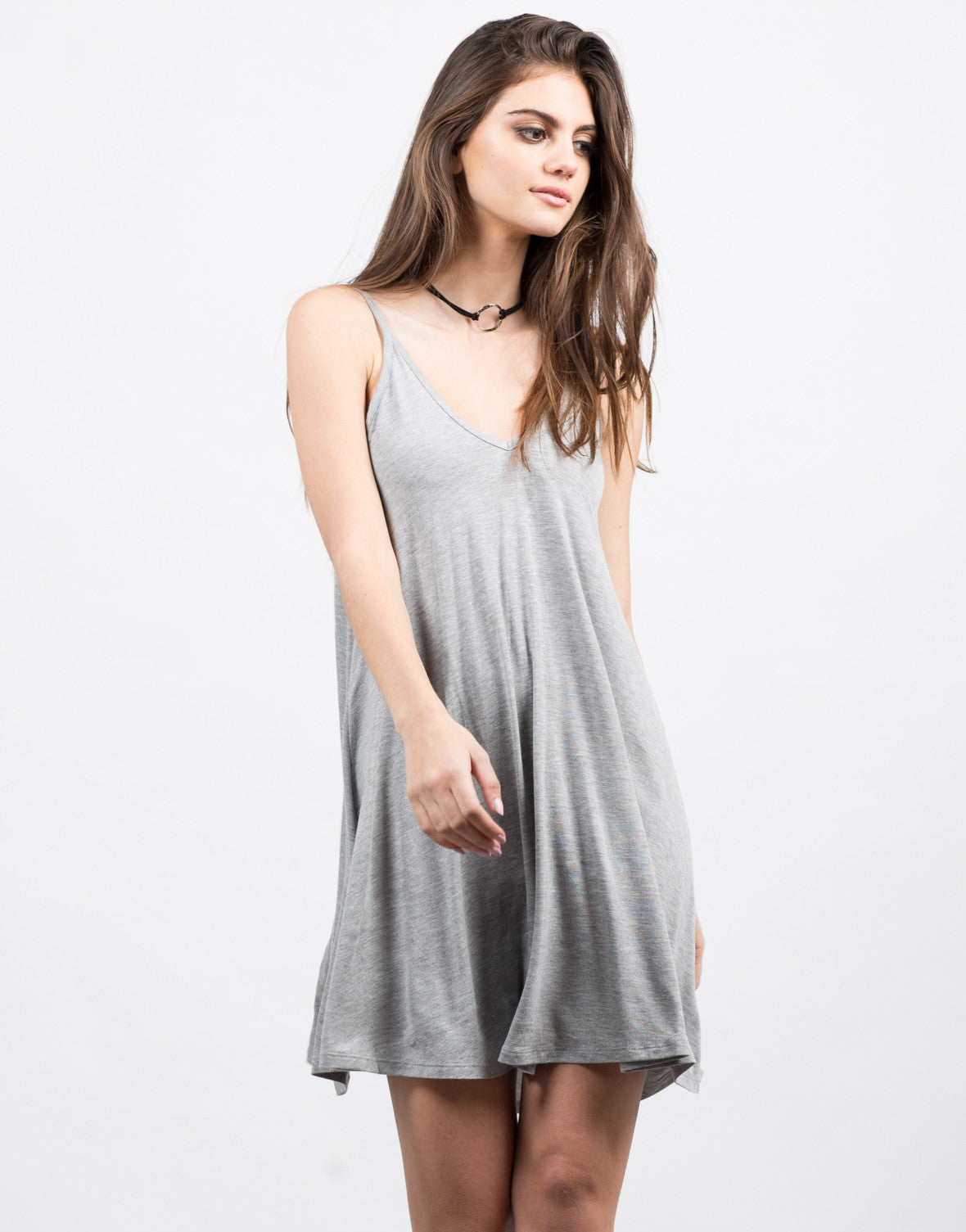 Front View of Basic Jersey Dress