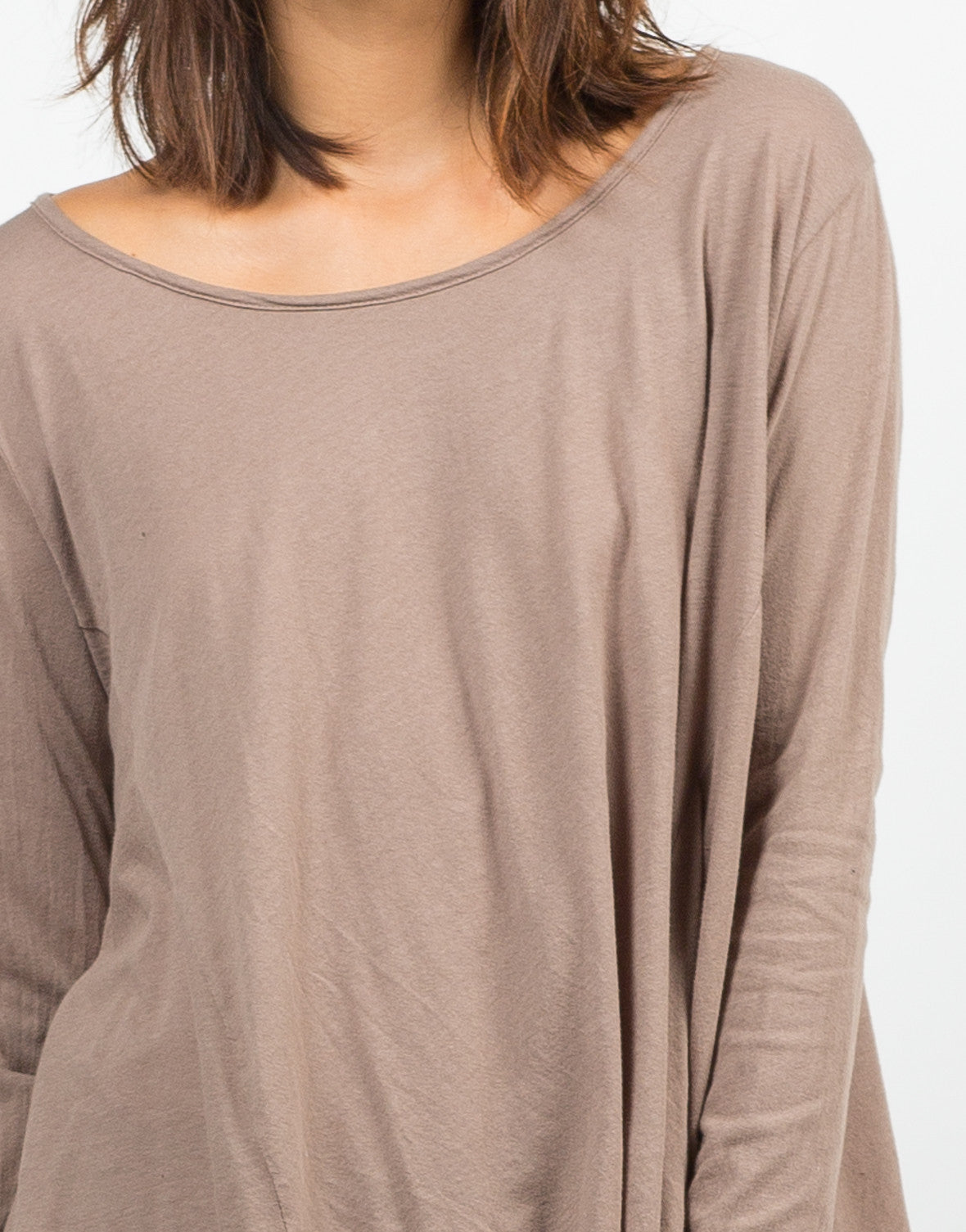 Detail of Basic Long Sleeve Tee