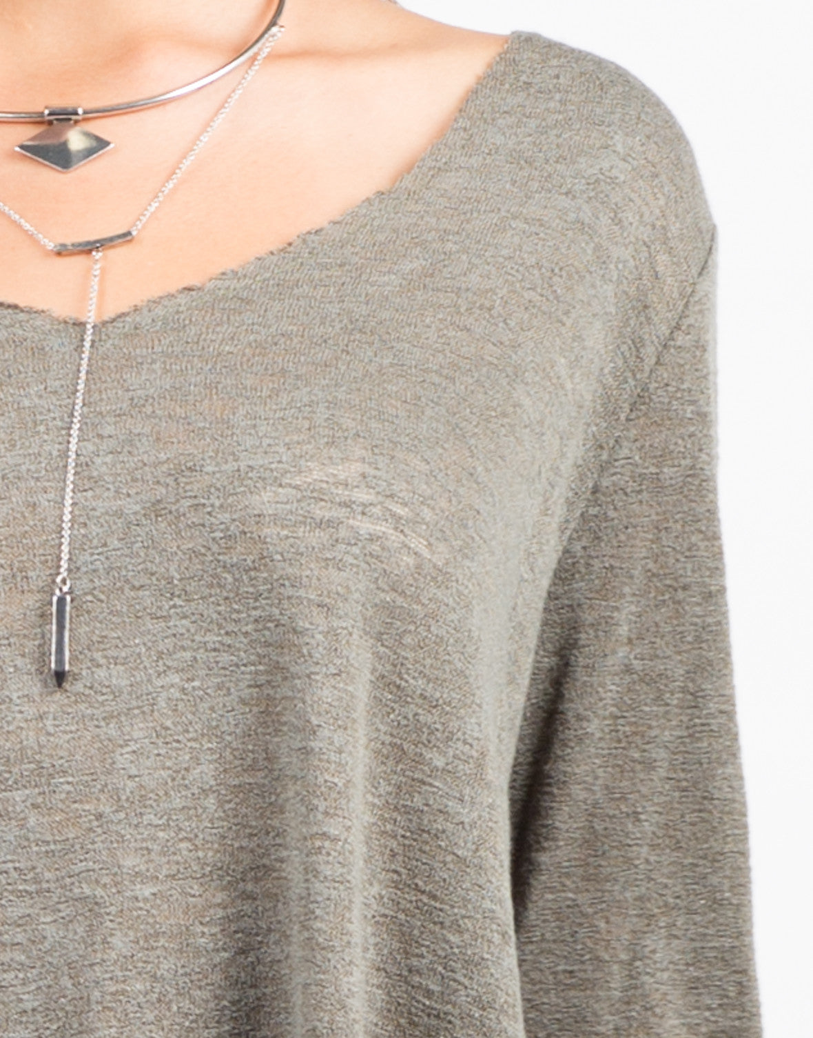 Detail of Basic Long Sleeve Top