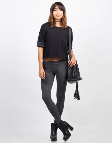 Front View of Basic Stirrup Leggings