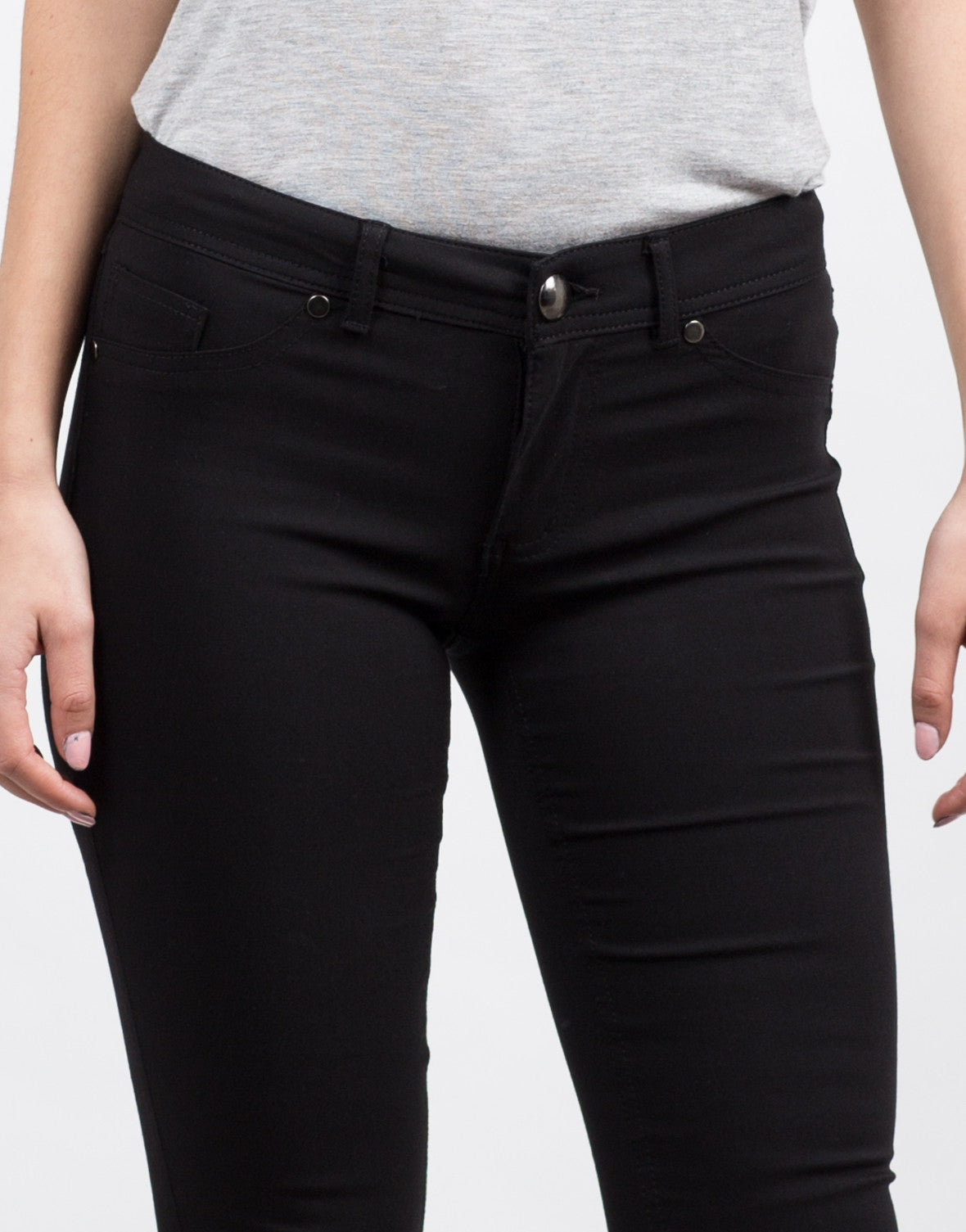 Detail of Basic Stretchy Skinny Pants