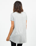 Back View of Basic T-Shirt Tunic