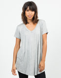 Front View of Basic T-Shirt Tunic