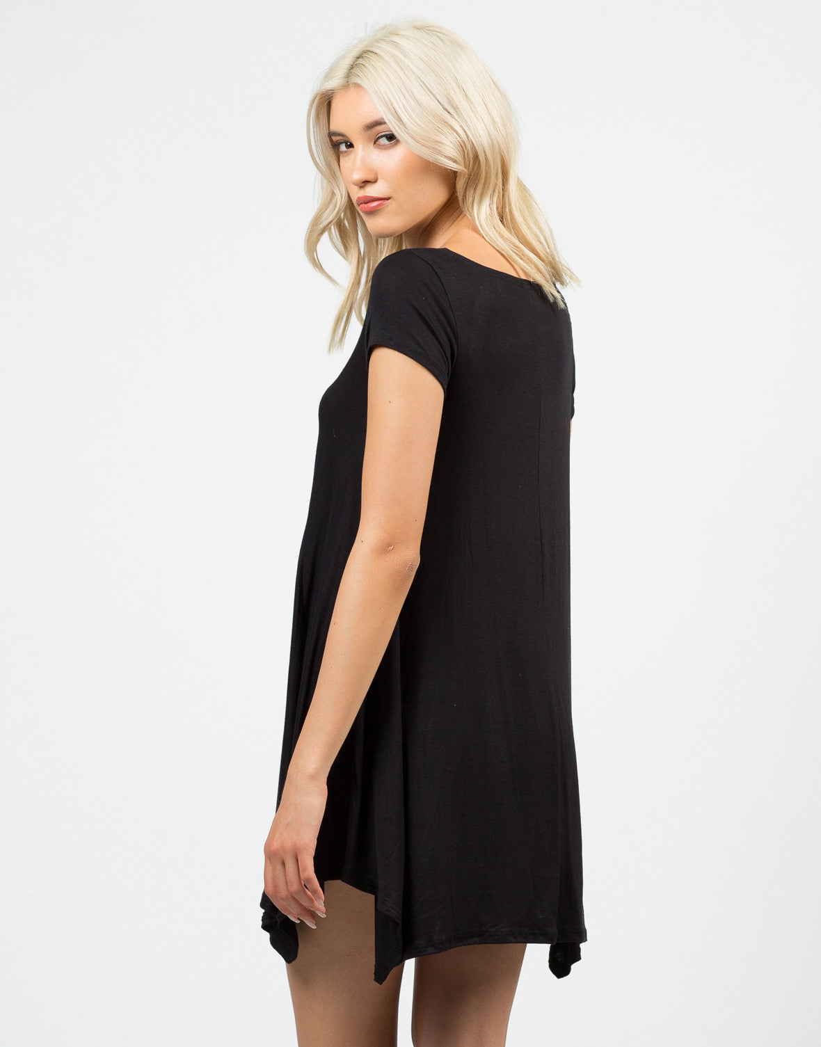 Back View of Basic Tunic Top