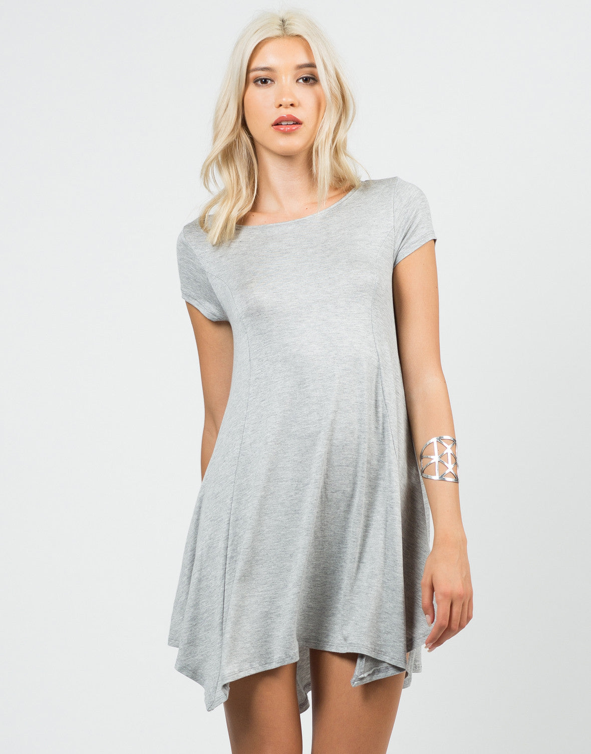 Front View of Basic Tunic Top