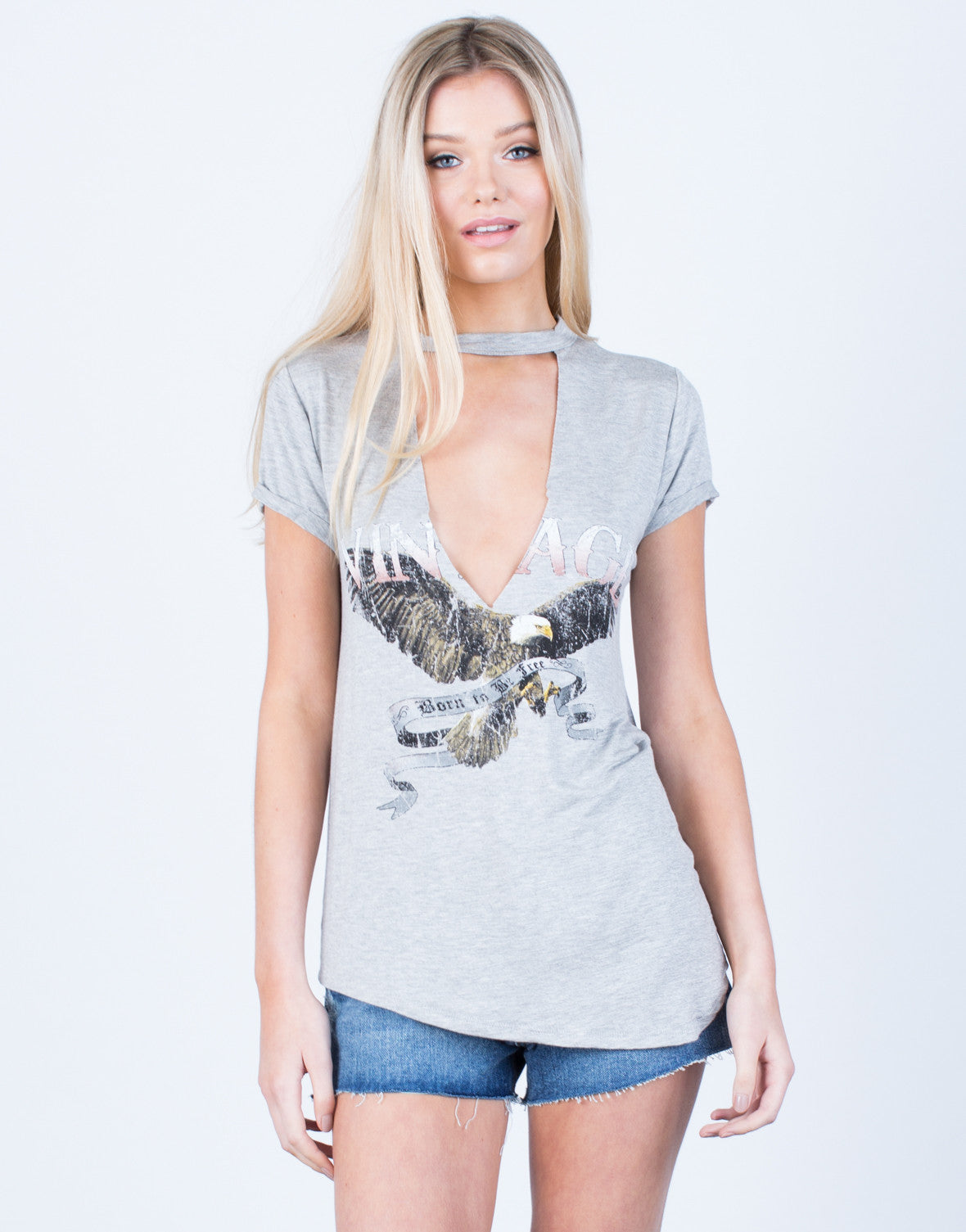 Front View of Be Free Graphic Tee