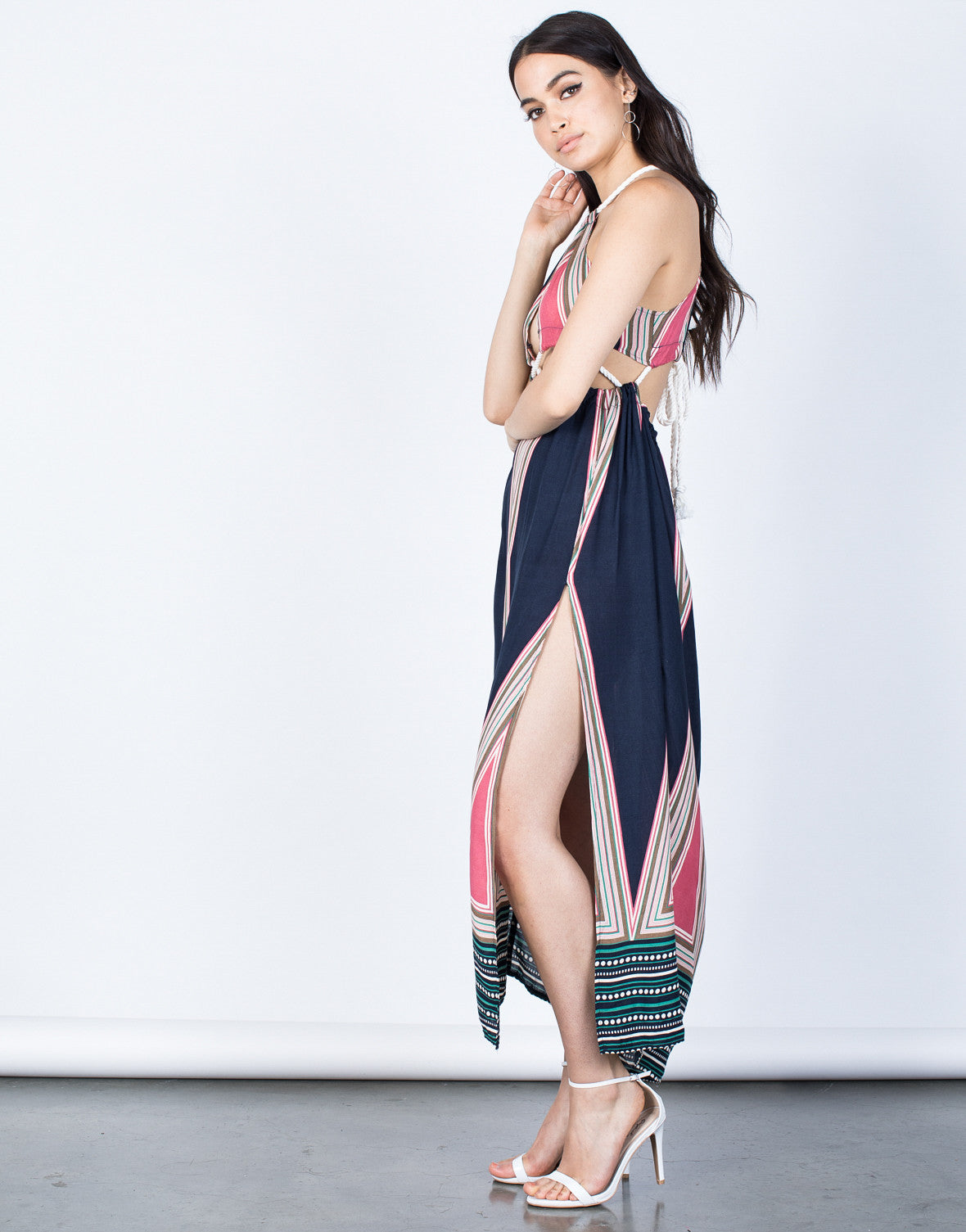Side View of Beach Side Maxi Dress