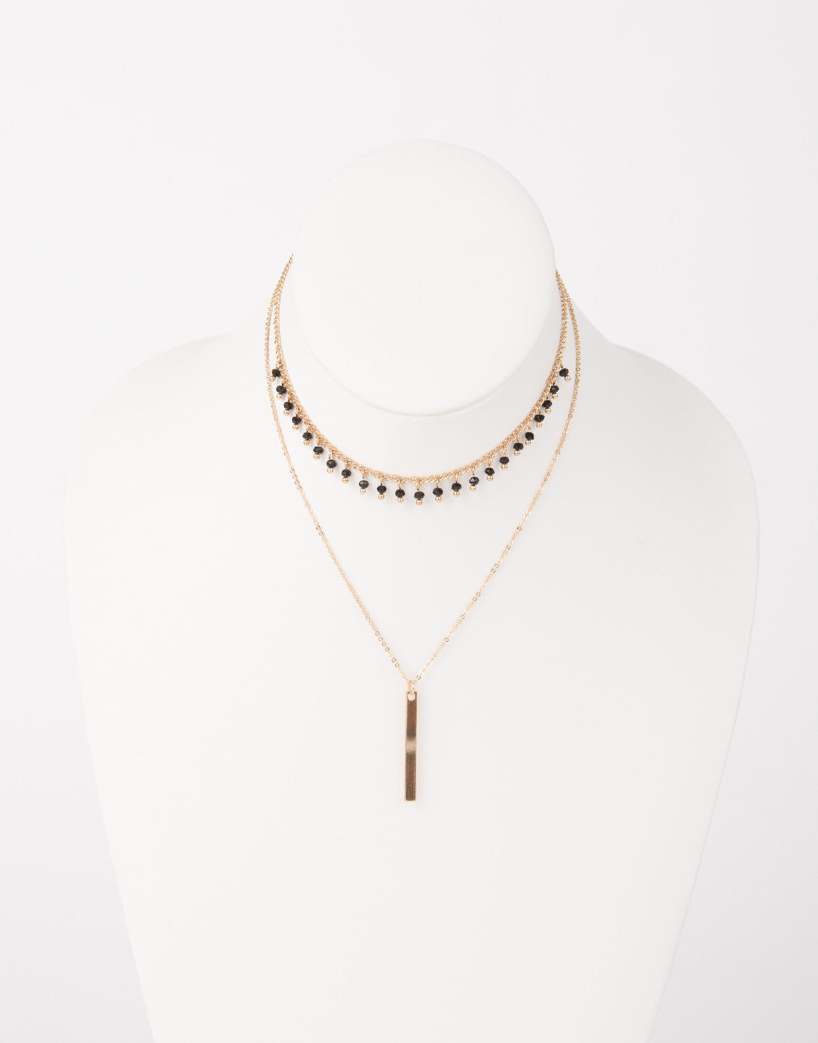 Beaded Chain Choker Necklace