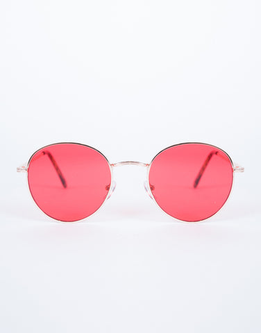 Red Beat the Heat Sunnies - Front View