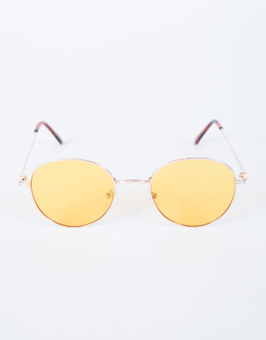 Yellow Beat the Heat Sunnies - Top View